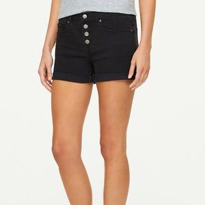 LOFT Outlet button front denim shorts